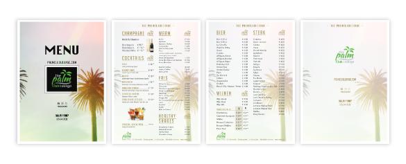 menukaart the palm club lounge zaandam